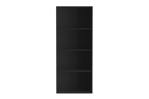 Estante em Mdp com 4 Divisórias 145x60cm Preta - Multivisão