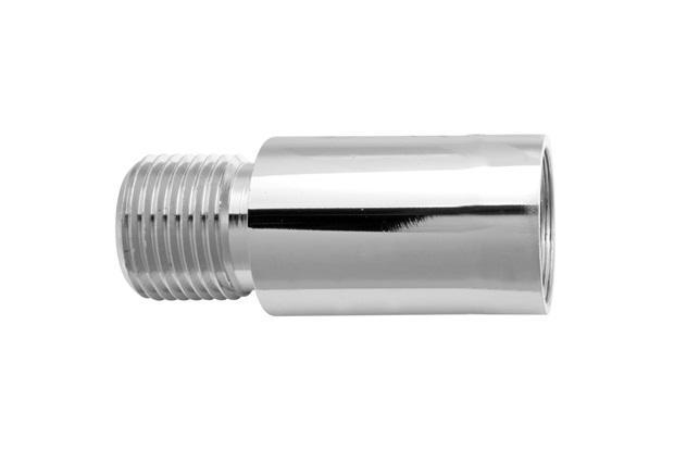 Extensão Sextavada para Torneira 1/2''X20mm Cromada - Blukit