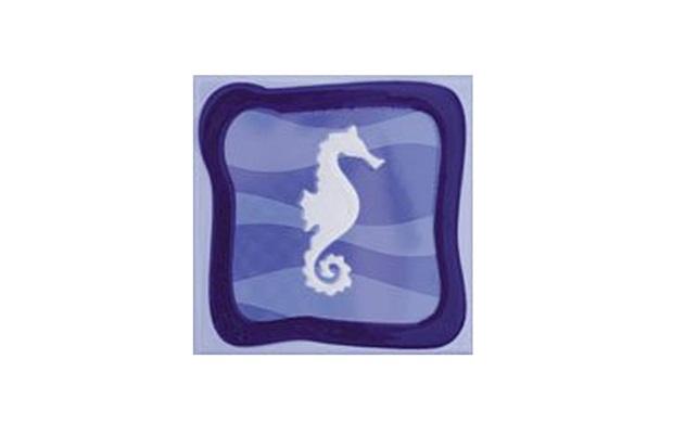 Faixa Brilhante Borda Bold Garopaba a Azul 15x15cm 1 Peça - Eliane