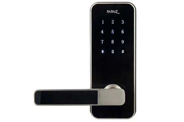 Fechadura Eletrônica Smart Lock Prata Esquerda - Papaiz