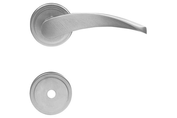 Fechadura para Banheiro com Espelho Onda Cromo Escovado - Aliança