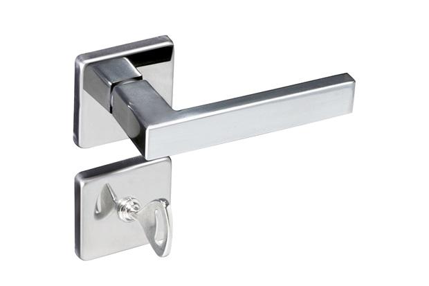 Fechadura para Banheiro com Roseta Quadrada Concept Cromada - Pado