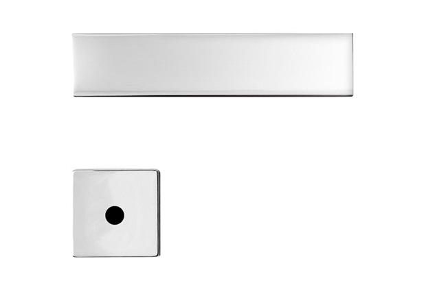 Fechadura para Banheiro com Roseta Redonda Design Massima Cromo Acetinado - Papaiz
