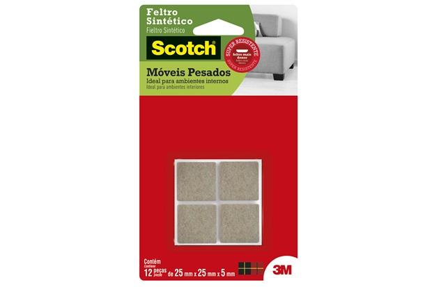 Feltro Scotch Quadrado para Móveis Pesados Grande - 3M