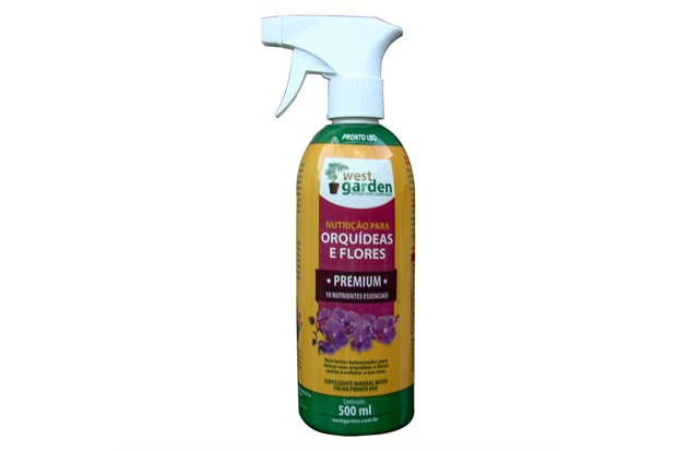 Fertilizante Mineral Pronto Uso Orquídeas E Flores 500ml - West Garden