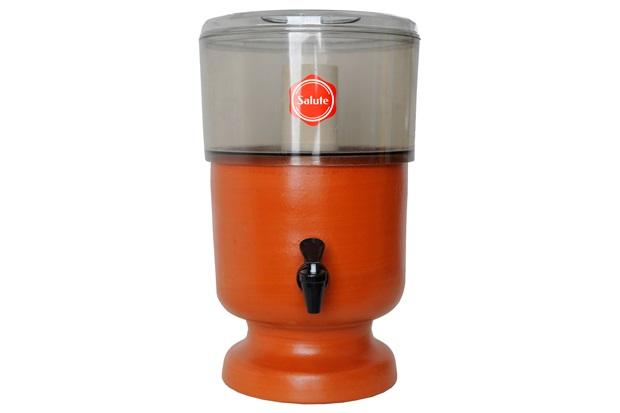 Filtro de Água em Acrílico E Barro Esterilizante Fumê 2 Litros - Salute