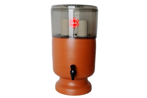 Filtro de Água em Acrílico E Barro Esterilizante Fumê 4 Litros - Salute