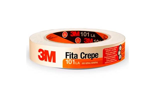 Fita Crepe 101la 18mm 50 Metros Bege - 3M