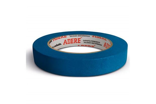 Fita Crepe para Pintura Imobiliária Azul 18mm com 50 Metros - Adere
