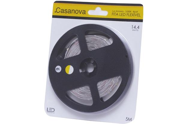 Fita de Led Flex 14,4w Bivolt com 5 Metros Casanova - Casanova