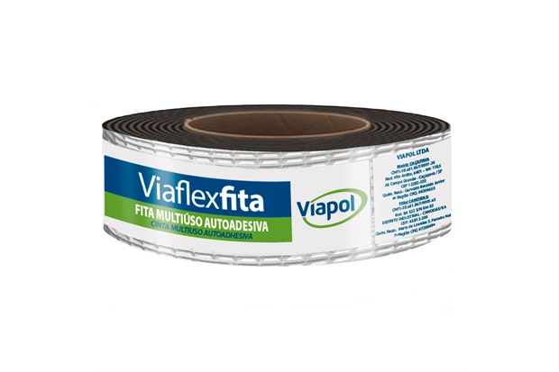 Fita Impermeabilizante Autoadesiva Viaflex Pró 5cm com 10 Metros Aluminizada - Viapol