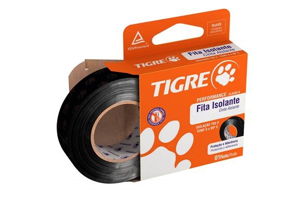 Fita Isolante Performance 19mm com 20 Metros Preta - Tigre