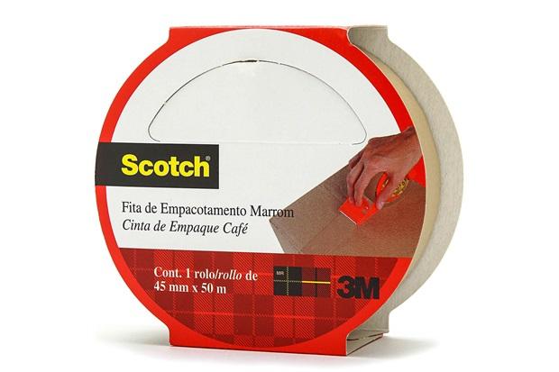 Fita para Empacotamento Hot Melt 45mm com 50m Marrom - Scotch