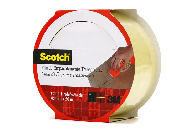 Fita para Empacotamento Hot Melt 45mm com 50m Transparente - Scotch