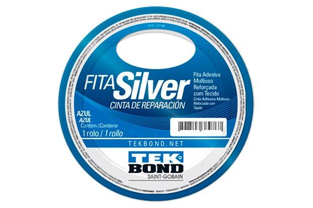 Fita Silver Tape 48mm com 5 Metros Azul - Tekbond