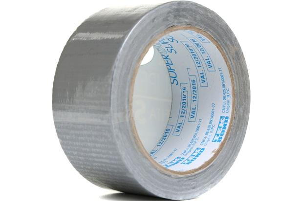 Fita Super Tape 48mm com 25 Metros Prata - Tekbond