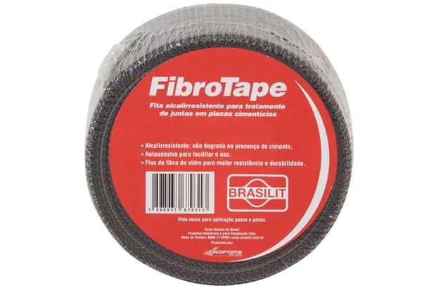 Fita Telada Fibrotape para Placa Cimentícia 10 Cm com 45,7 Metros - Brasilit