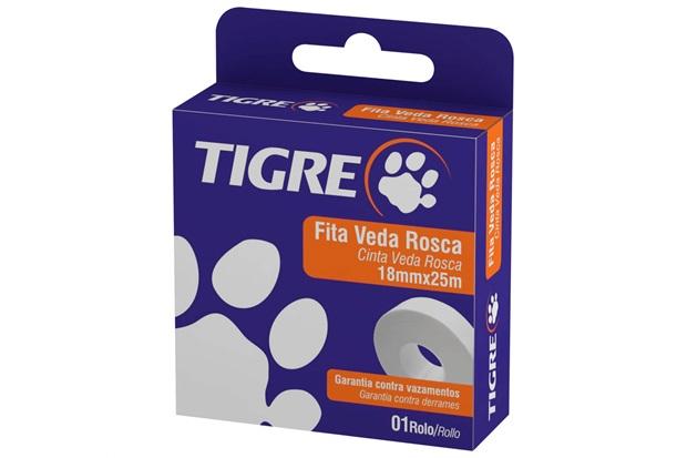 Fita Veda Rosca 18mm com 25 Metros Branca - Tigre