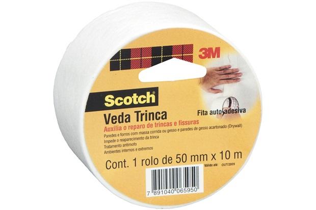 Fita Veda Trinca 50mm com 10m Branca - Scotch