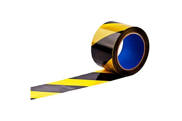 Fita Zebrada em Rolo 65mm com 200 Metros Amarela E Preta - Delta Plus
