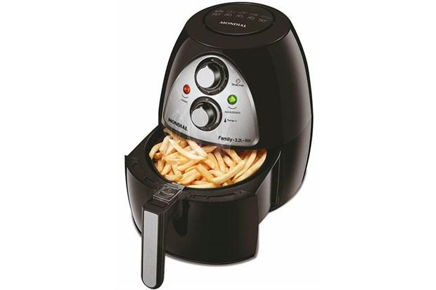 Fritadeira sem Óleo Air Fryer Family 3,2 Litros 1500w 220v Preta - Mondial