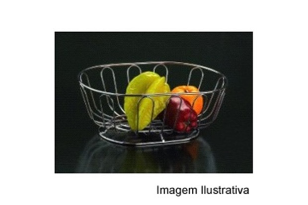 Fruteira Oval Cromada Ref. 110656 - Wireking