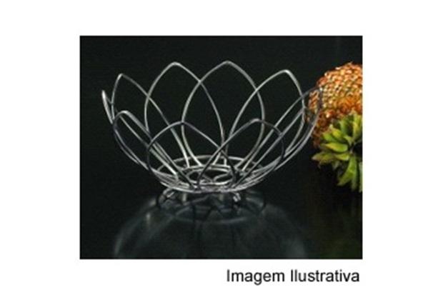Fruteira Pétalas Cromada  - Wireking