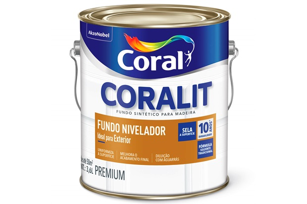 Fundo Nivelador Fosco para Madeira Coralit Branco 3,6 Litros - Coral