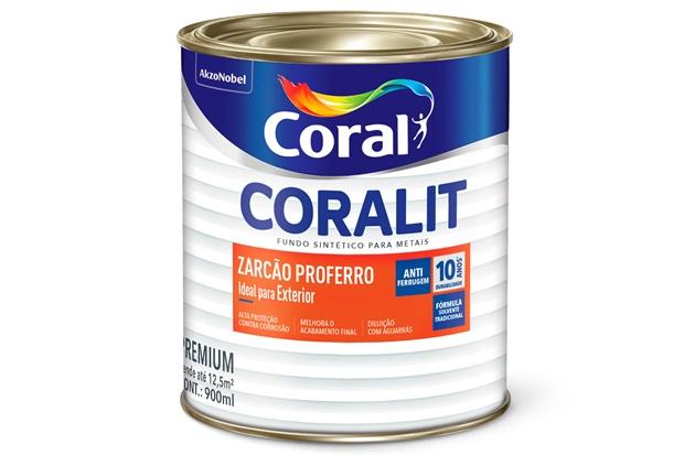 Fundo para Metais Coralit Zarcão Proferro Transparente 900ml - Coral