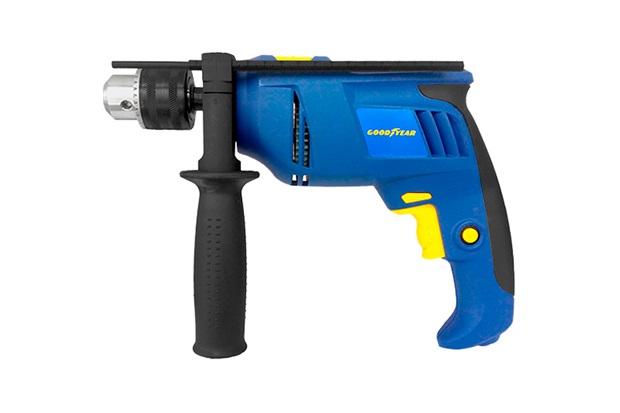 Furadeira de Impacto 700w 220v Azul E Amarela - Goodyear