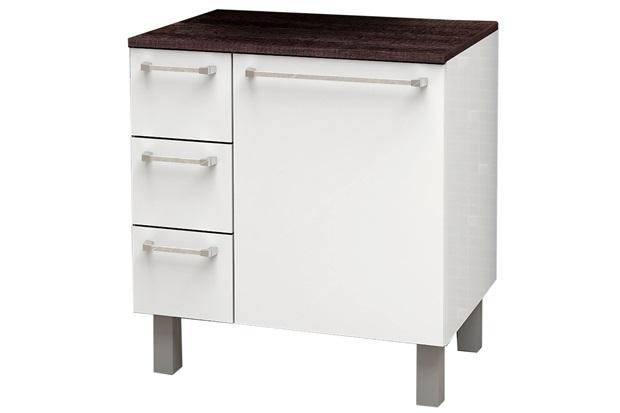 Gabinete em Mdp Mauá 66,5x60cm Branco E Dakota - Cozimax