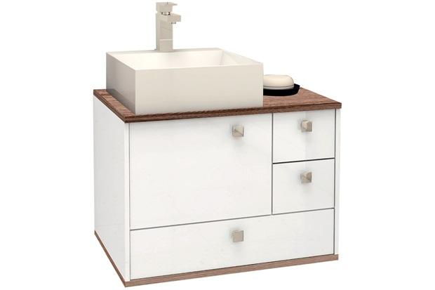 Gabinete em Mdp Moema 60x43,8cm Branco E Tamarindo - Cozimax