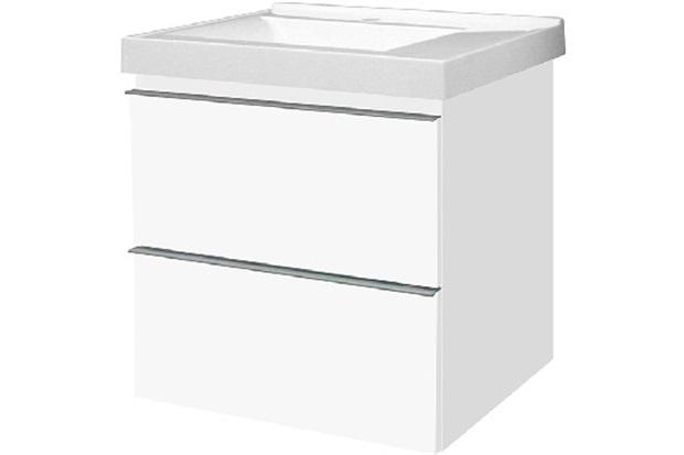 Gabinete para Banheiro Blu Line com Gavetas Branco 60cm - Bumi Móveis