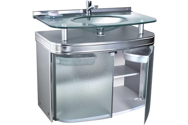 Gabinete para Banheiro com Cuba de Embutir Master 69x62,5cm Cromado - Cris Metal