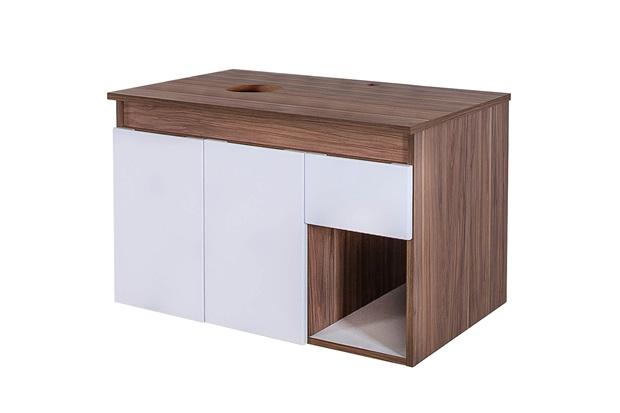 Gabinete para Banheiro em Mdf Artesan 47x75cm Branco E Gris Montano - Fermar Scalline