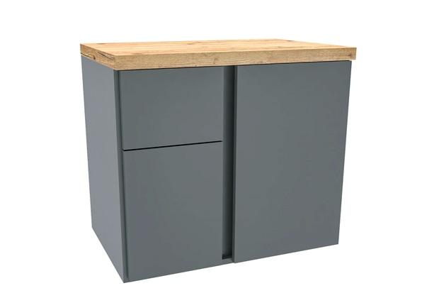 Gabinete para Banheiro em Mdf Castellon 60x53cm Cinza - Darabas Agardi