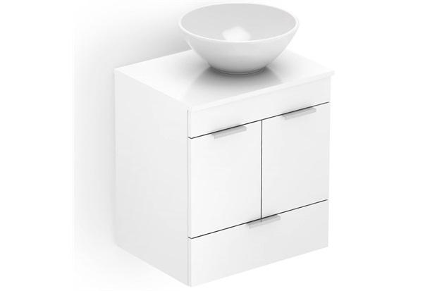 Gabinete para Banheiro em Mdf com Cuba Basic 50x38cm Branco - Celite