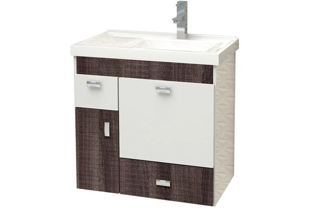 Gabinete para Banheiro em Mdf com Tampo Orquídea 59,6cm Branco E Dakota - Cozimax