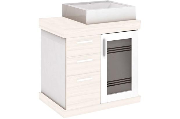 Gabinete para Banheiro em Mdf Imola Ii 60x58cm Mezzo Blanco - Darabas Agardi