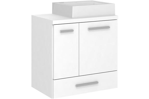 Gabinete para Banheiro em Mdf Madri 60cm Branco - Darabas Agardi