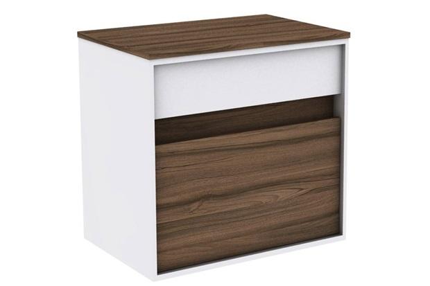 Gabinete para Banheiro em Mdf Módena 60cm Terracota - Darabas Agardi