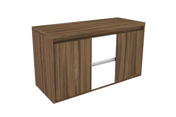 Gabinete para Banheiro em Mdf Pádua 100x56,2cm Terracota - Darabas Agardi