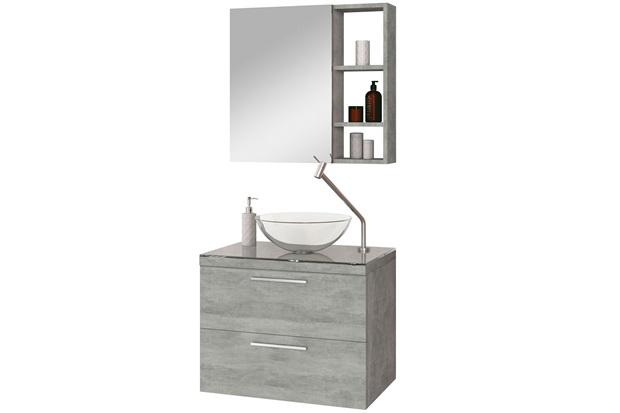 Gabinete para Banheiro em Mdf Santorini sem Cuba 60cm Cimentício - Astral Design