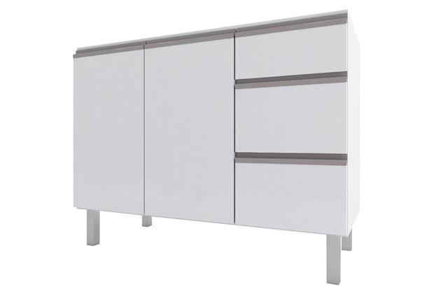 Gabinete para Cozinha em Aço Gaia 115,5x52cm Branco - Cozimax