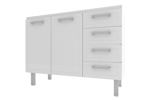 Gabinete para Cozinha em Aço Quality Flat 117,2x91cm Branco - Cozimax