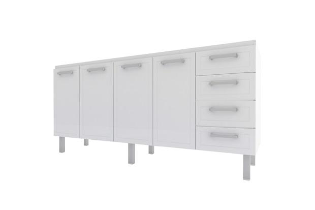 Gabinete para Cozinha em Aço Quality Flat 174cm Branco - Cozimax