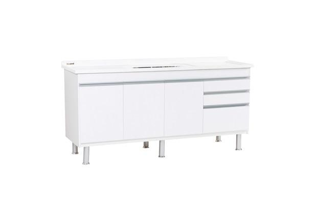 Gabinete para Cozinha em Mdf Ferrara 180x70cm Branco - Corso