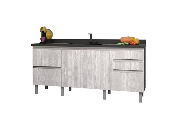 Gabinete para Cozinha em Mdf Tupã 174cm Calcare - Cozimax