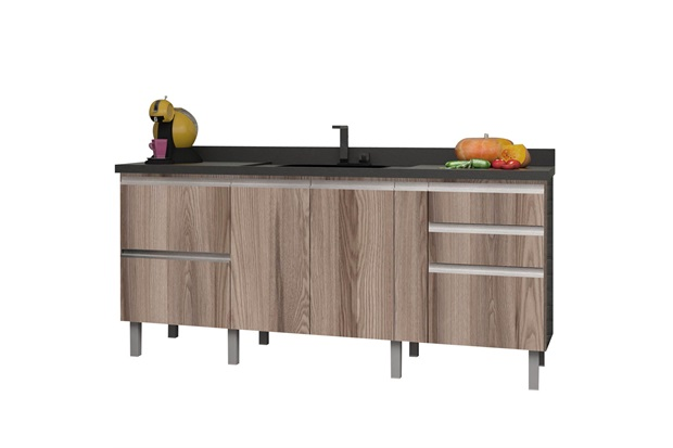 Gabinete para Cozinha em Mdf Tupã 180cm Cozimax - Cozimax