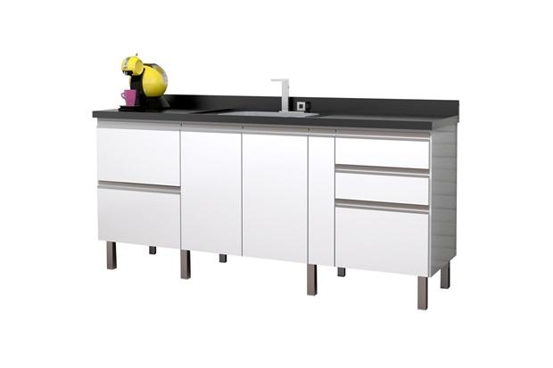Gabinete para Cozinha em Mdf Tupã 194cm Branco - Cozimax